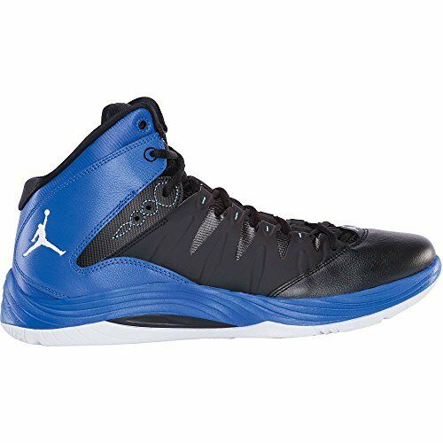 Nike jordan maschile di basket scarpa (599582-007 nero / bianco / gioco blu