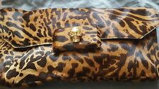 ALEXANDER MCQUEEN AUTHENTIC  OCELOT PONY SKULL HANDBAG