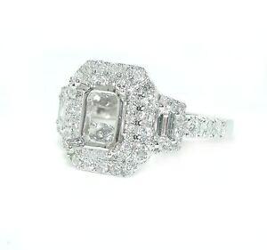 1CT-Emerald-Cut-Rectangular-Double-Halo-w-Trapezoids-DIAMOND-Ring-Setting-14KWG
