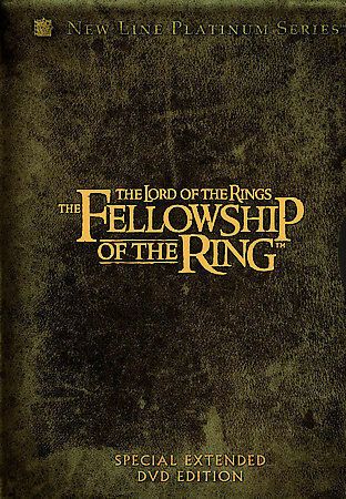 ~  The Lord of the Rings:  The Fellowship of the Ring   (DVD, 2002, 4-Disc Set ~