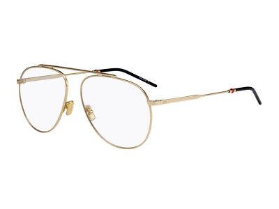 Entusiasta Montatura Occhiali Da Vista Dior Autentici Dior0221 Oro J5g/14 Chiaro E Distintivo