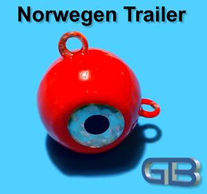 Norwegen-Trailer-60g-90g-115g-170g-Sea-Trailer-Kugelblei-mit-Ose-Jigkopf