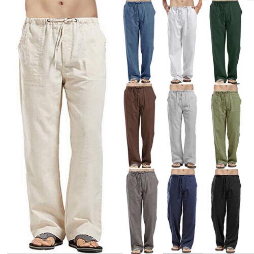 Men Casual Baggy Harem Pants Beach Yoga Loose Trousers Loungewear Bottoms S-5XL