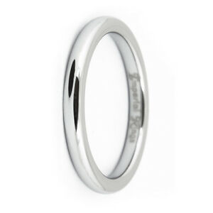 thin polished tungsten carbide wedding band promise ring