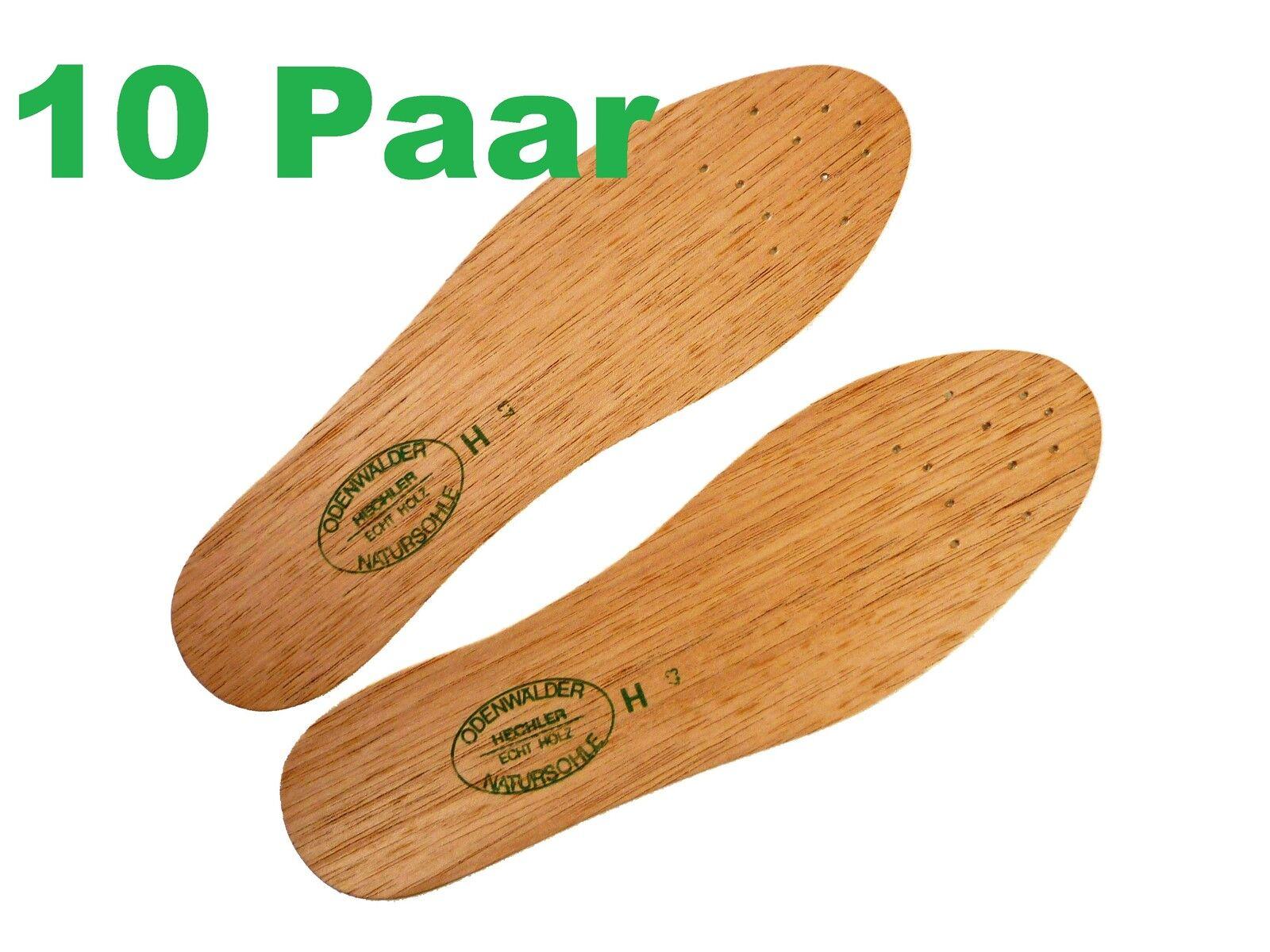 10x ORIGINAL Odenwälder Zedern-Sohle - - - Einlegesohle - Einlage aus Zeder-Holz b94496