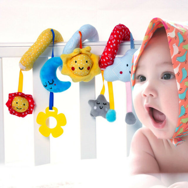 New Musical Insect Activity Toy Spiral Cot Car Seat//Stroller Infant Rattle
