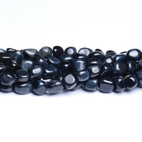 Oeil de Tigre Lisse Nugget Perles 7-9 mm bleu 40 pcs Handcut pierres À faire soi-même Bijoux