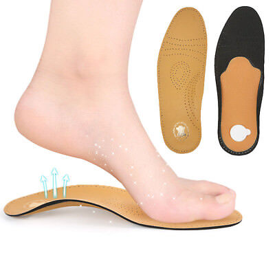New Leather Latex Insole Orthopedic Orthopedic Instep Arch Support Flat Shoe Pad