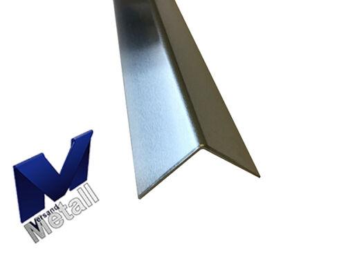 1,25m Aluminiumwinkel L-Profil gleichschenklig L=1250mm blank AUSSEN foliert