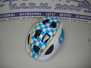 CASCO-BICI-CAFE-RACE-BAMBINO-BIANCO-BLU-GIALLO-MISURA-S-AV690022C