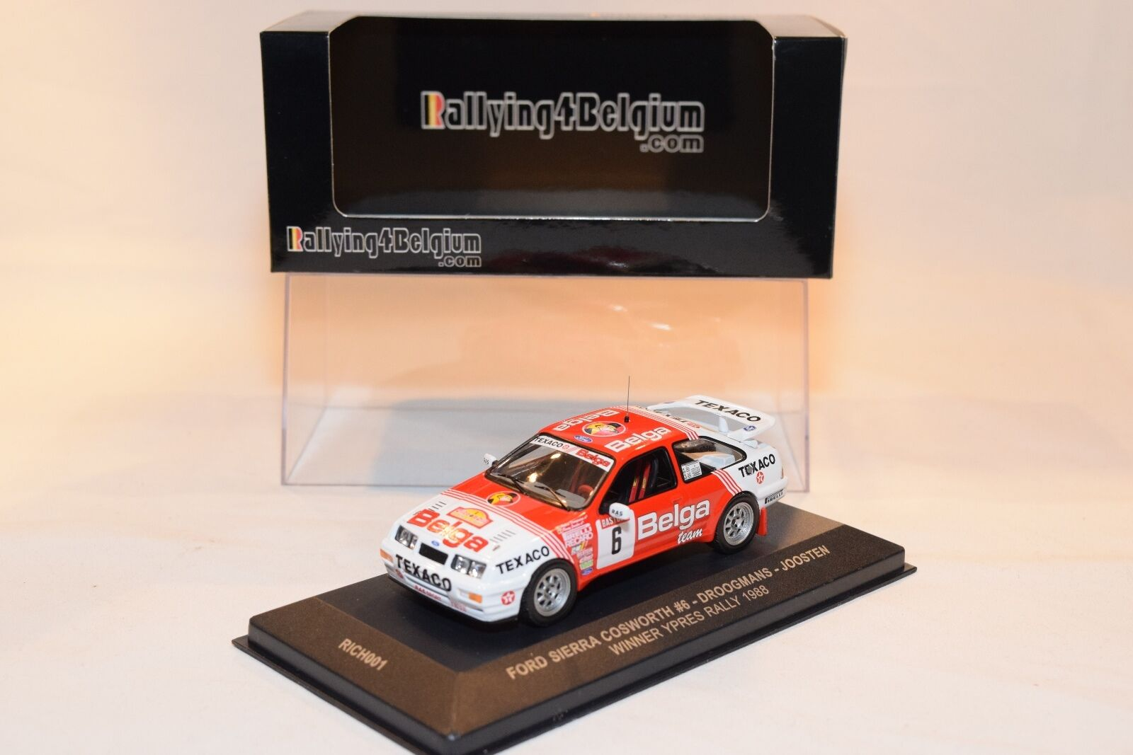RALLYING4BELGIUM RICH001 FORD SIERRA COSWORTH WINNER YPRES RALLY 1988 RARE