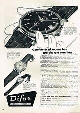 D- Publicité Advertising 1959 La Montre Difor