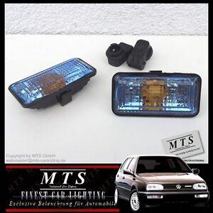 BLAUE-Seitenblinker-VW-Golf-3-Vento-Cabrio-Passat-GTI-VR6-16V-G60-B3-35i-Rallye
