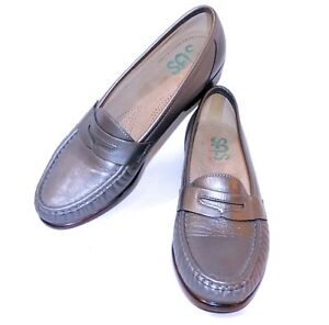 10242690baa EXCELLENT 10 NARROW SAS PEWTER WINK LOAFER SHOES WOMENS COMFORT WARM ...