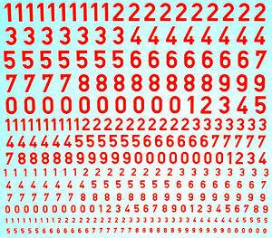 Chiffres En Leuchtrot Numbers Fluorescent Red Day 1:43 Décalque-afficher Le Titre D'origine Une Grande VariéTé De ModèLes