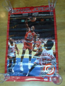 Michael Jordan Bullseye Poster Starline 1989 NBA Chicago Bulls 23 No Holes