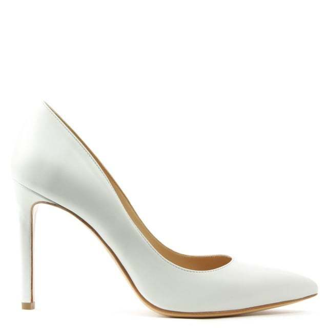 Daniel Footwear Modest Womens Pointed UK 6 White Leather Pointed Womens Court / Wedding Shoes f5b4d4