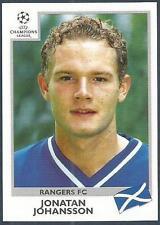 PANINI UEFA CHAMPIONS LEAGUE 1999-00- #221-RANGERS & FINLAND-JONATAN JOHANSSON