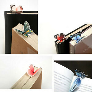 2Pcs-Creative-Butterfly-Bookmark-Cartoon-Book-Mark-Paper-Clips-OZ
