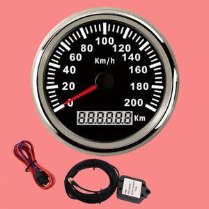 Universal-85mm-GPS-Speedometer-200KM-H-Car-Truck-Motorcycle-Digital-Odometer-New