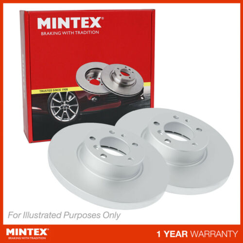 New Audi A1 8X1 1.6 TDI Genuine Mintex Rear Coated Brake Discs Pair x2