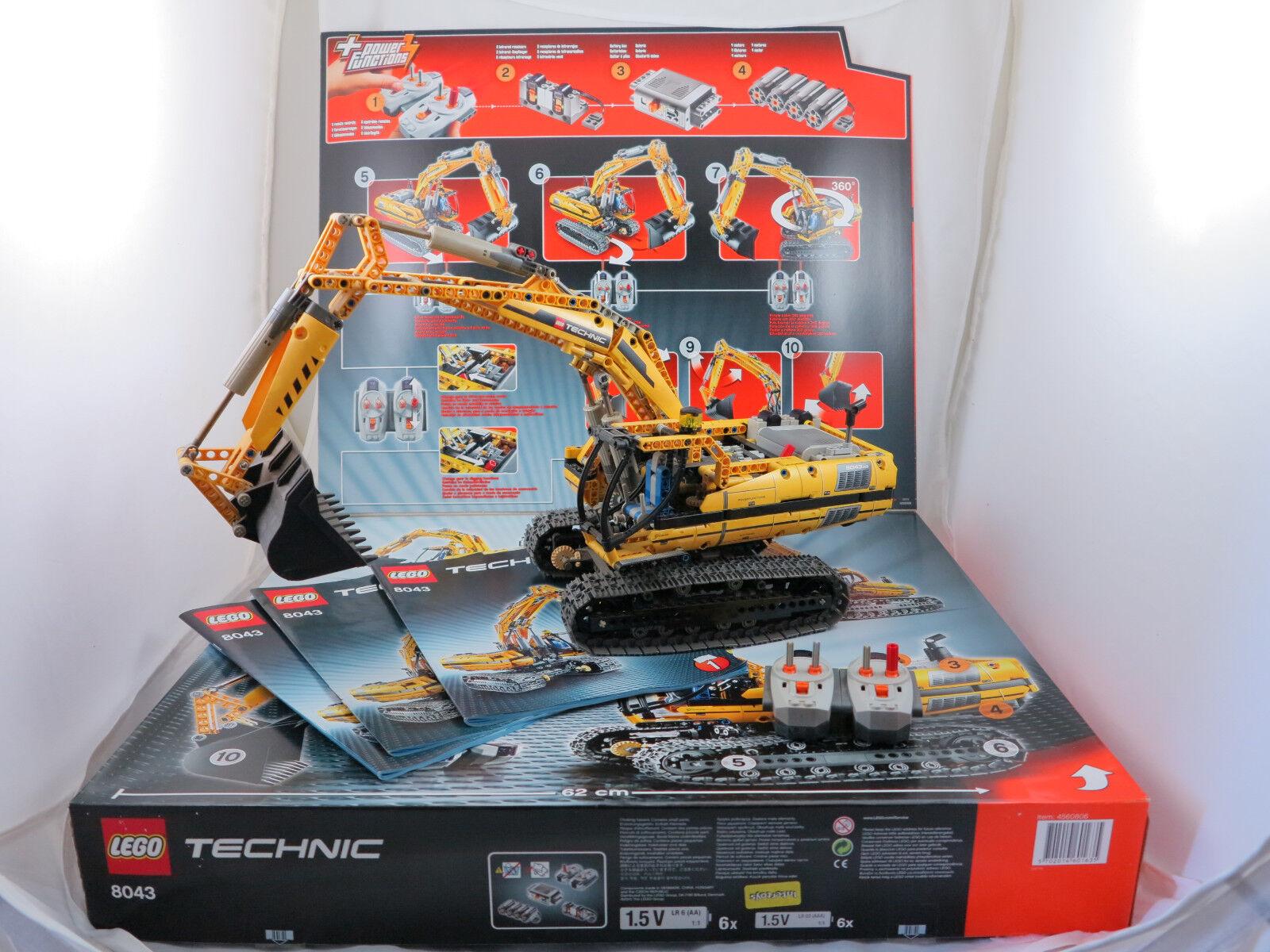 LEGO Tecnica 8043  Fader privandole Escavatore Escavatore  M. fenbed. OVP + OBA ( 101)