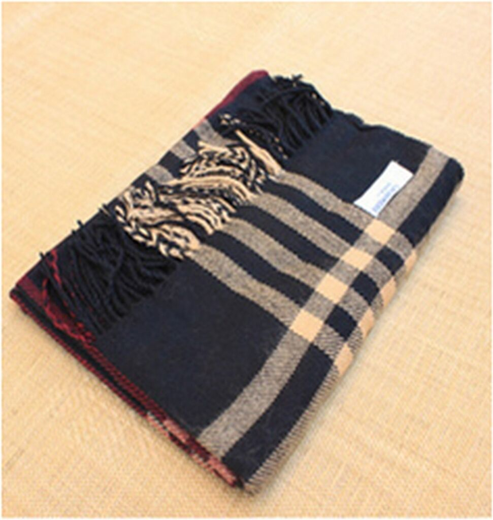 Womens Large Scarf Scarves Thick Tartan Wrap Cashmere
