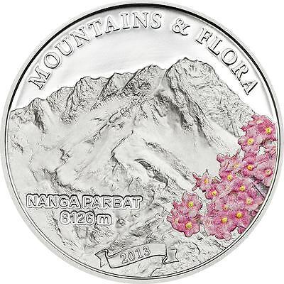 Palau 2014 $5 Mountains And Flora 2014 I Nanga Parbat 20g Silver Proof Coin