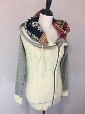 Women's Desigual Cardigan Sweater. Size S. Cute Hood. Full Zipper
