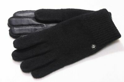 John Richmond Guanti Damen Herren Handschuhe Winter Wolle Outdoor Schwarz