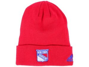 0978f2726 Details about NEW YORK RANGERS RED NHL VTG KNIT CUFFED BEANIE SKI WINTER  CAP HAT NWT! ADIDAS
