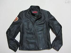 Levi-039-s-Damen-Biker-Jacke-Lederjacke-Gr-M-schwarz-hochwertiges-Echt-Leder