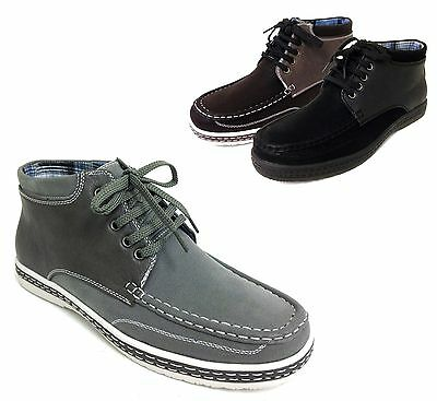 new men's casual oxfords high top moccasins laceup moc