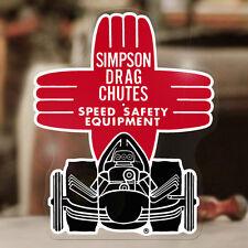"Simpson Drag Chutes sticker decal old school hot rod drag racing 4.75"""