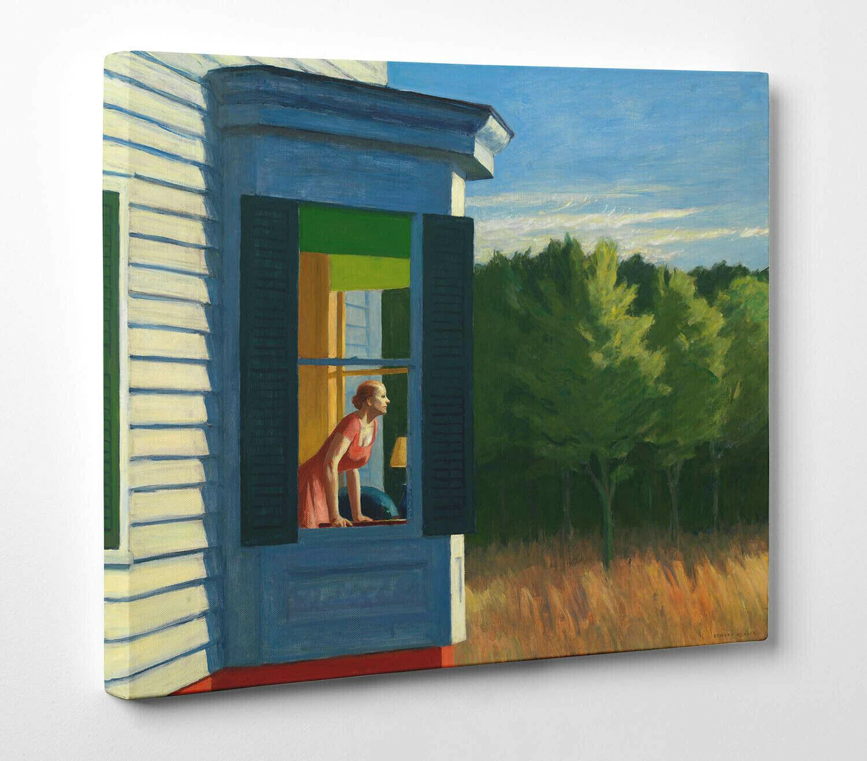 Quadro Hopper Cape Code Morning Stampa Fine Art su Tela Vernice Pennellate
