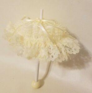 Vintage-RB-Howell-Company-Lace-Umbrella-Parasol-Miniature-American-Girl-18-034-Doll
