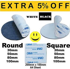 3M-9448A-Double-Sided-Circle-EVA-Foam-Black-amp-White-Pad-Self-Adhesive-Round-HQ