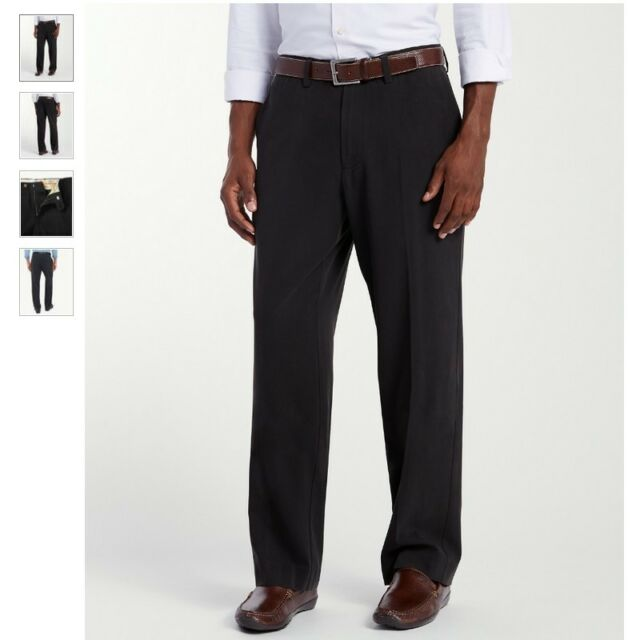 $145 Tommy Bahama T17153 Men/'s New St Thomas Flat Front Silk Pant Black 36 x 30