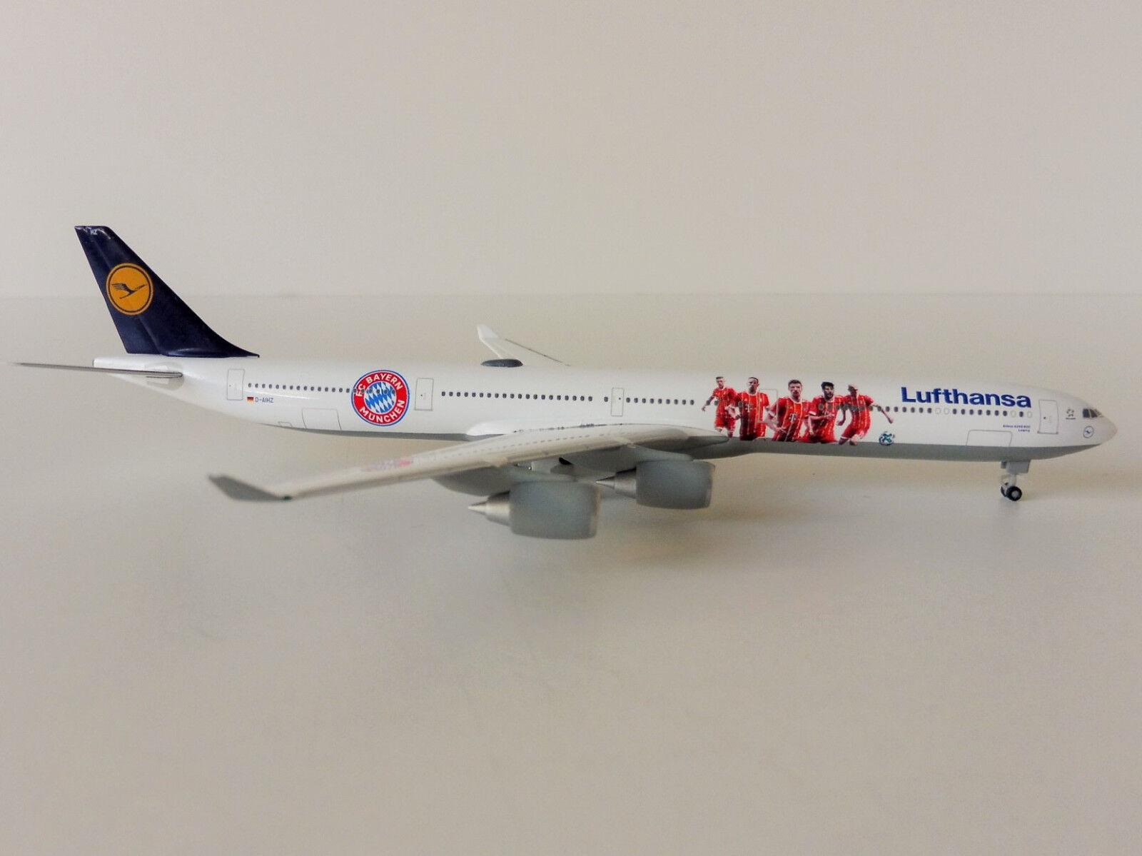 FC Bayern München Lufthansa Airbus A340-600 1 500 Herpa 530897 Audi Tour Cina