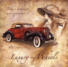 "Luxury On Wheels 1935 LaSalle Ad Replica 12 x 12"" Photo Print"