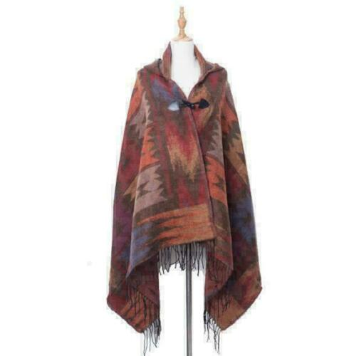 Women Knitted Cape Blanket Imitation Cashmere Poncho Open Front Shawl Ladies Lot