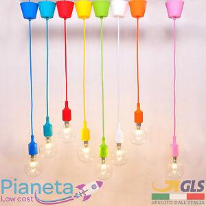 Portalampada-E27-Porta-Lampada-Colorato-Silicone-sospensione-Lampadario-Soffitto