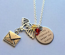 Harry Potter jewelry Owl Letter To the cupboard under the stairs necklace USA