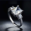 1-75Ct-Radiant-Cut-Diamond-Accent-Solitaire-Engagement-Ring-18K-White-Gold-Over thumbnail 2