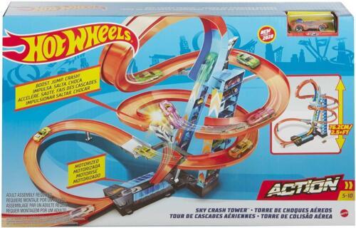 Hot Wheels accidente de Cielo Conjunto de torre de pista