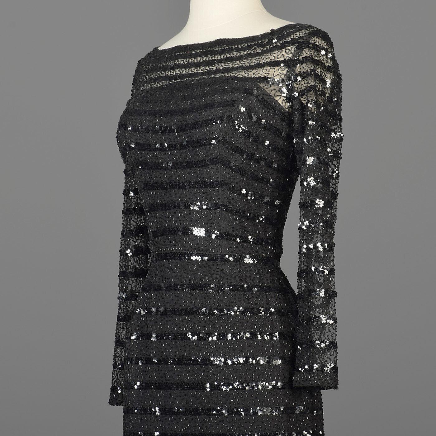 XXS Vintage 1960s 60s Ceil Chapman Long Sleeve Se… - image 8
