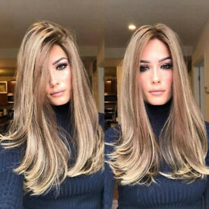 PW-FA-Women-Central-Parting-Long-Straight-Cosplay-Wig-Hairpiece-Synthetic-Ha