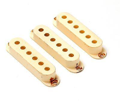 Aged 62 Vintage Pickup Cover Set Single Coil 52 mm Spacing fits to Strat ®