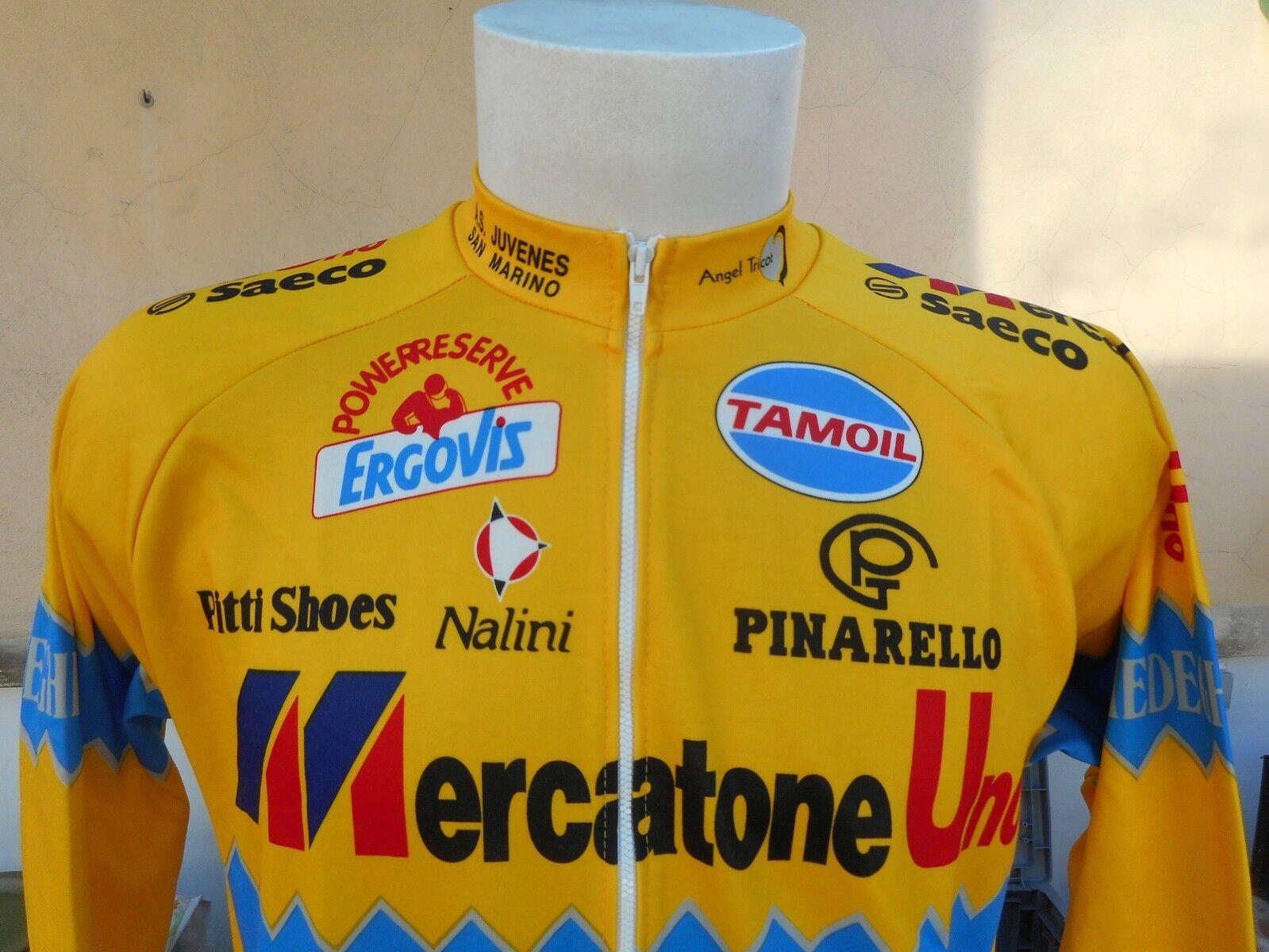 MAGLIA CICLISMO MERCATONE UNO JERSEY NALINI 1990s VINTAGE CYCLING SHIRT JERSEY UNO 0115 52a2c6