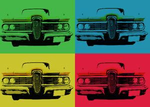1963 Chevrolet  Impala Pop Art Print or Greeting Card Set American Classic Car